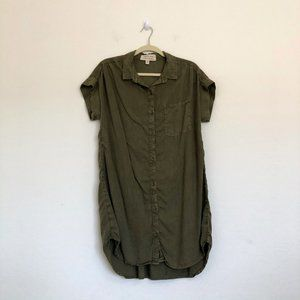 Cloth and Stone Olive Green Button Down Dress